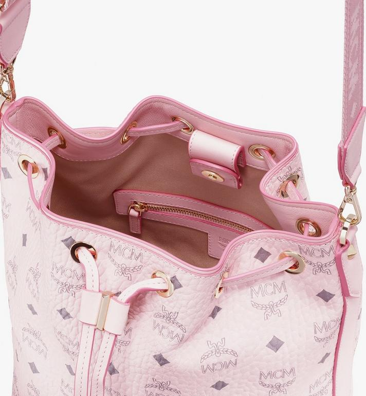 MCM Essential Beutel in Visetos Original mit Kordelzug Pink MWD9SSE71QH001 Alternate View 5