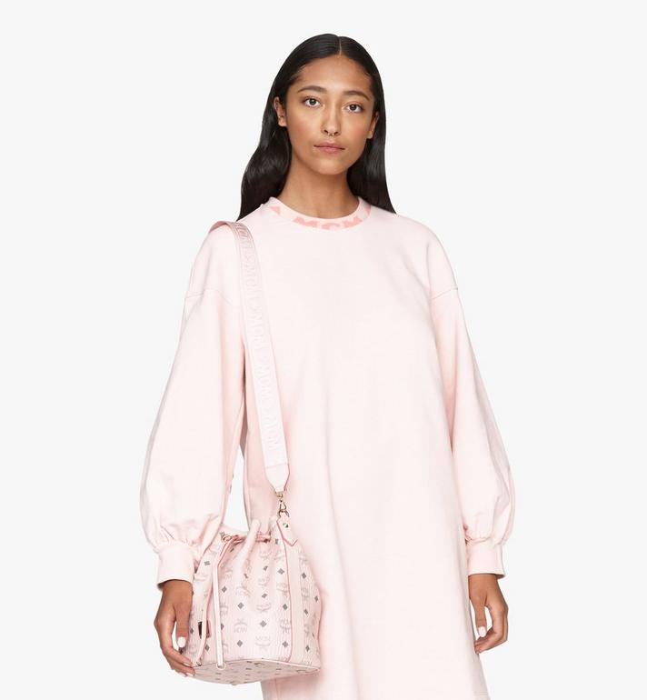 MCM Essential Drawstring Bag in Visetos Original Pink MWD9SSE71QH001 Alternate View 7