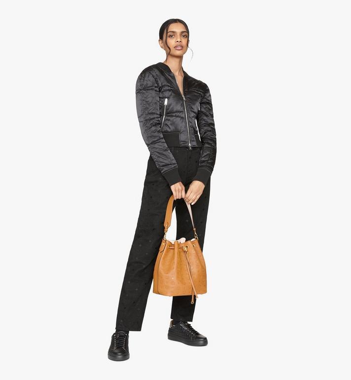 MCM Essential Drawstring Bag in Monogram Leather Cognac MWD9SSE76CO001 Alternate View 6