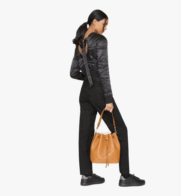 MCM Essential Drawstring Bag in Monogram Leather Cognac MWD9SSE76CO001 Alternate View 7