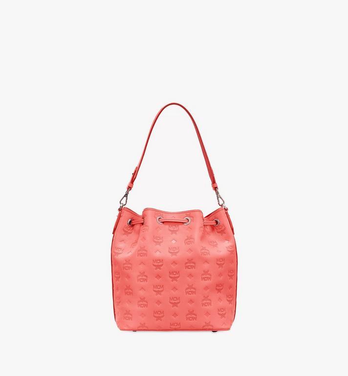 MCM Essential Drawstring Bag in Monogram Leather Orange MWD9SSE79O3001 Alternate View 4