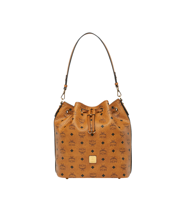 MCM Sac à cordon Essential en Visetos Cognac MWD9SSE85CO001 Alternate View 1