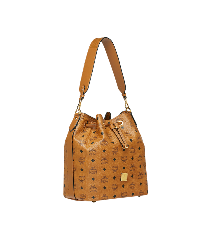 MCM Essential Drawstring in Visetos Original Cognac MWD9SSE85CO001 Alternate View 2