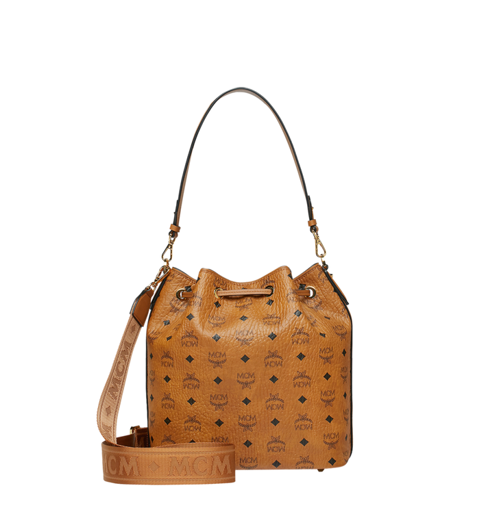 MCM Sac à cordon Essential en Visetos Cognac MWD9SSE85CO001 Alternate View 4