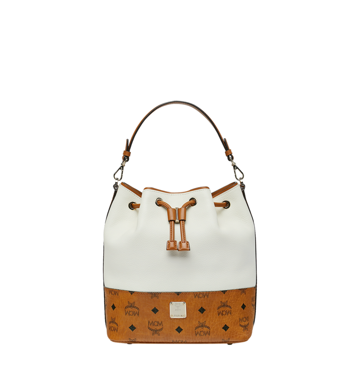 MCM Geonautic Drawstring Bag in Colorblock Leather Alternate View