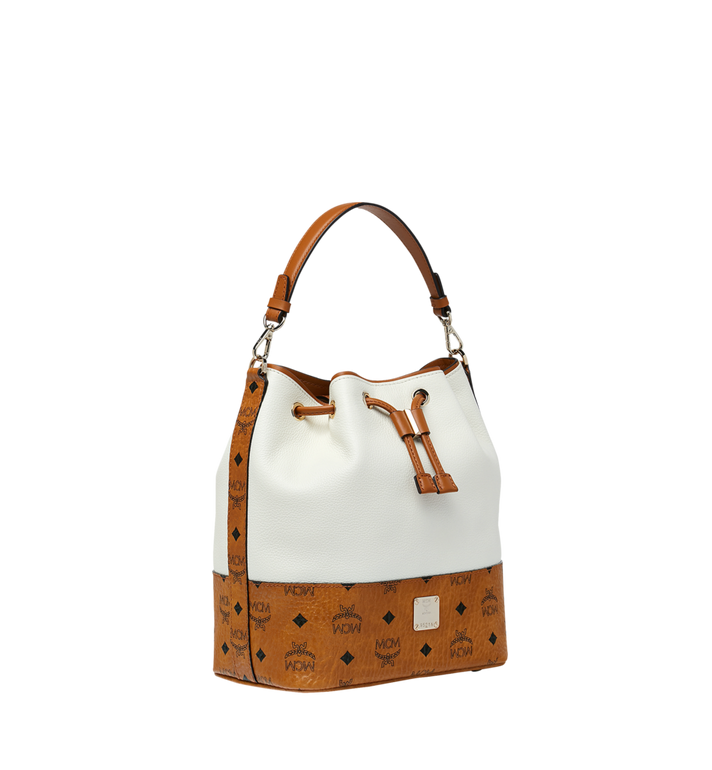MCM Geonautic Drawstring Bag in Colorblock Leather Alternate View 2