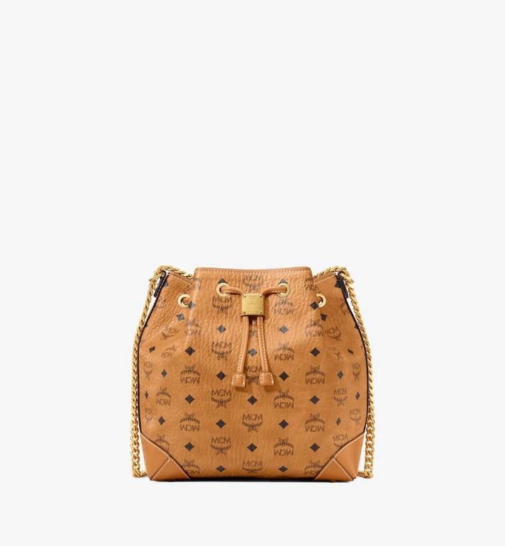 MCM กระเป๋าหูรูด Soft Berlin ลาย Visetos Cognac MWDAABF02CO001 Alternate View 1