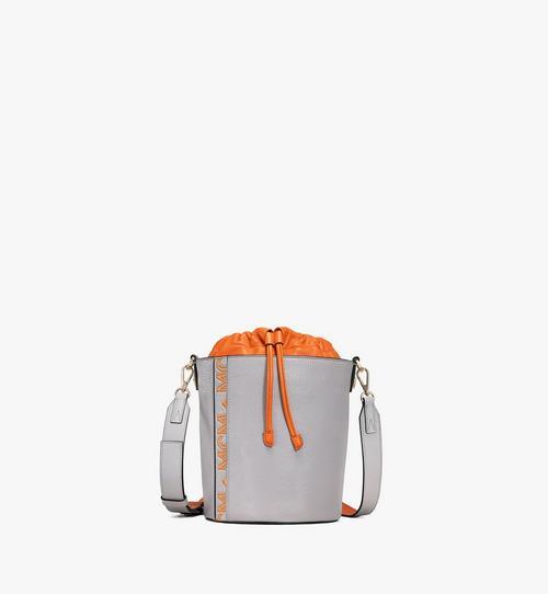 Milano Kordelzugtasche aus Ziegenleder in Colorblock Design