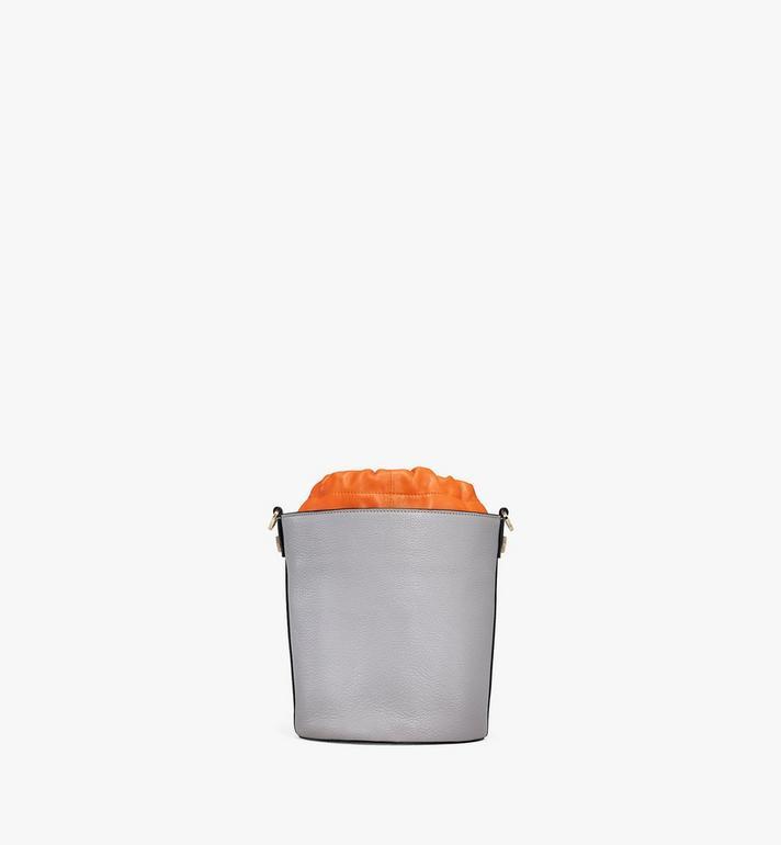 MCM Milano Drawstring Bag in Color Block Goatskin Leather Orange MWDAADA02O4001 Alternate View 4