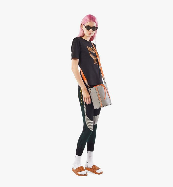 MCM Milano Drawstring Bag in Color Block Goatskin Leather Orange MWDAADA02O4001 Alternate View 5