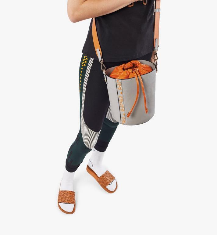 MCM Milano Drawstring Bag in Color Block Goatskin Leather Orange MWDAADA02O4001 Alternate View 6
