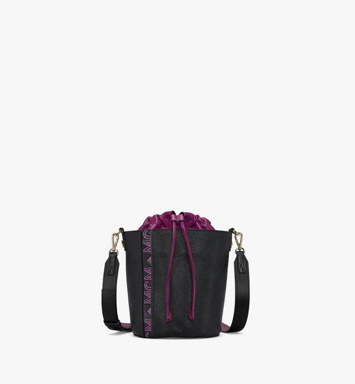 MCM Milano Drawstring Bag in Color Block Goatskin Leather Alternate View