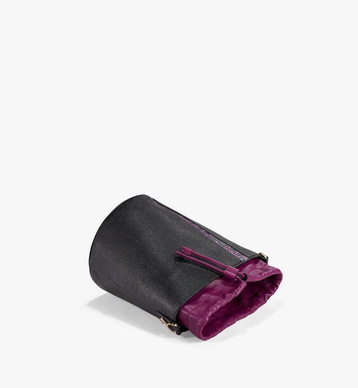 MCM Milano Drawstring Bag in Color Block Goatskin Leather Purple MWDAADA02UZ001 Alternate View 3
