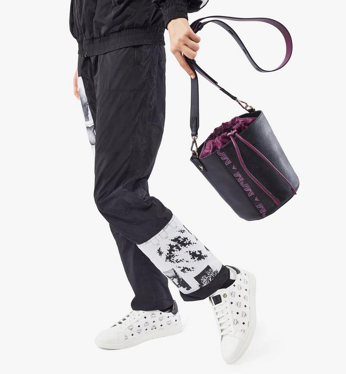MCM Milano Drawstring Bag in Color Block Goatskin Leather Purple MWDAADA02UZ001 Alternate View 6