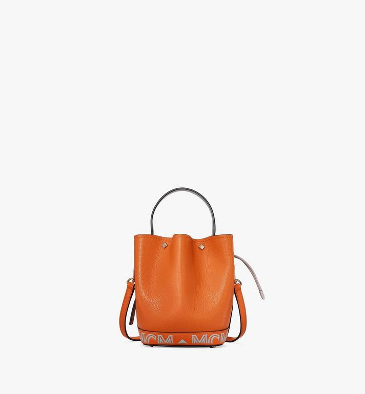 MCM Milano Drawstring Bag in Color Block Goatskin Leather Alternate View