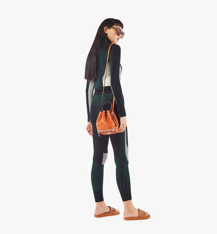 MCM Milano Drawstring Bag in Color Block Goatskin Leather Orange MWDAADA03O4001 Alternate View 5