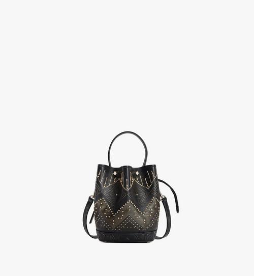 กระเป๋าหูรูด Milano Lux ทำจากหนังประดับหมุด