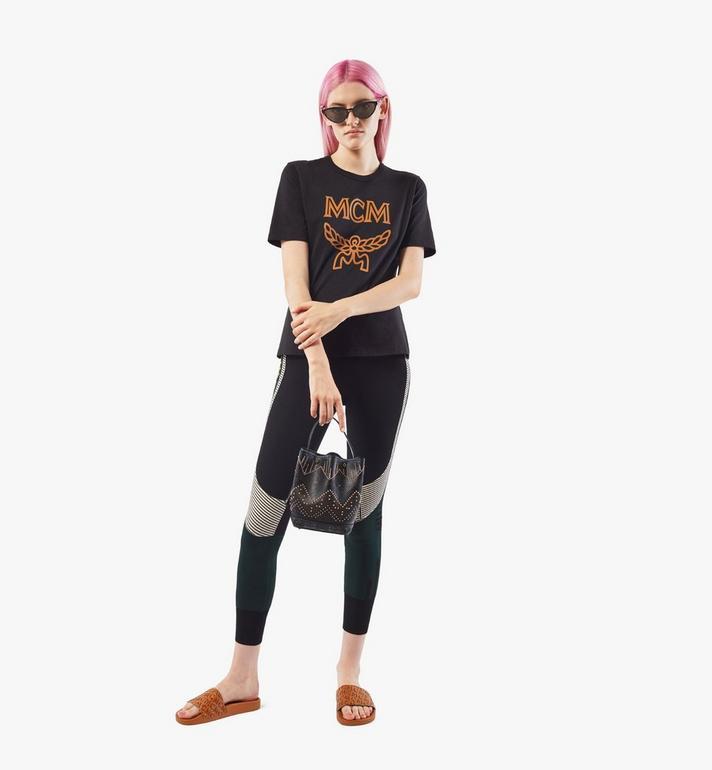 MCM Milano Lux Drawstring Bag in Studded Leather Black MWDAADA04BK001 Alternate View 6