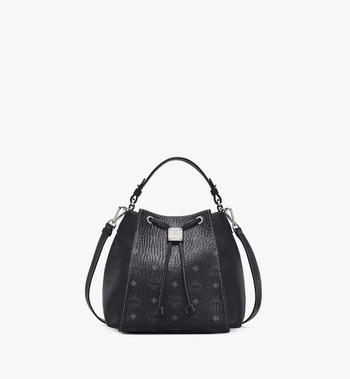 MCM Luisa Drawstring Bag in Visetos Leather Block Alternate View
