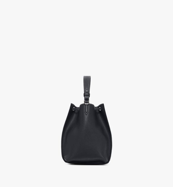 MCM Luisa Drawstring Bag in Visetos Leather Block Black MWDAALZ01BK001 Alternate View 2