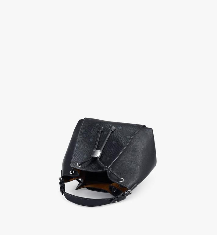 MCM Luisa Drawstring Bag in Visetos Leather Block Black MWDAALZ01BK001 Alternate View 3