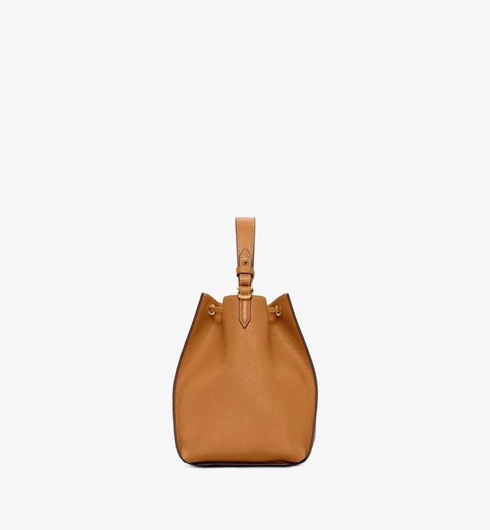 MCM Luisa Drawstring Bag in Visetos Leather Block Cognac MWDAALZ01CO001 Alternate View 2