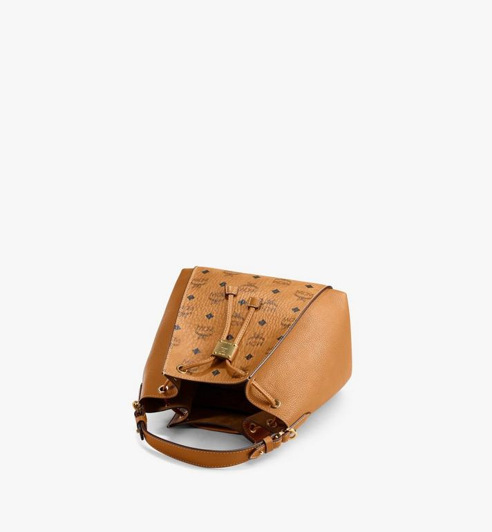 MCM Luisa Drawstring Bag in Visetos Leather Block Cognac MWDAALZ01CO001 Alternate View 3