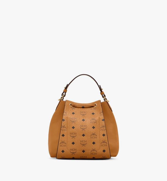 MCM Luisa Drawstring Bag in Visetos Leather Block Cognac MWDAALZ01CO001 Alternate View 4
