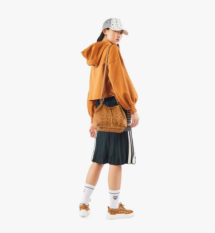 MCM Luisa Drawstring Bag in Visetos Leather Block Cognac MWDAALZ01CO001 Alternate View 5