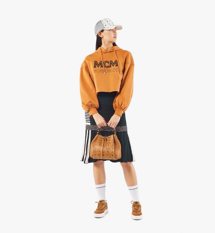 MCM Luisa Drawstring Bag in Visetos Leather Block Cognac MWDAALZ01CO001 Alternate View 6