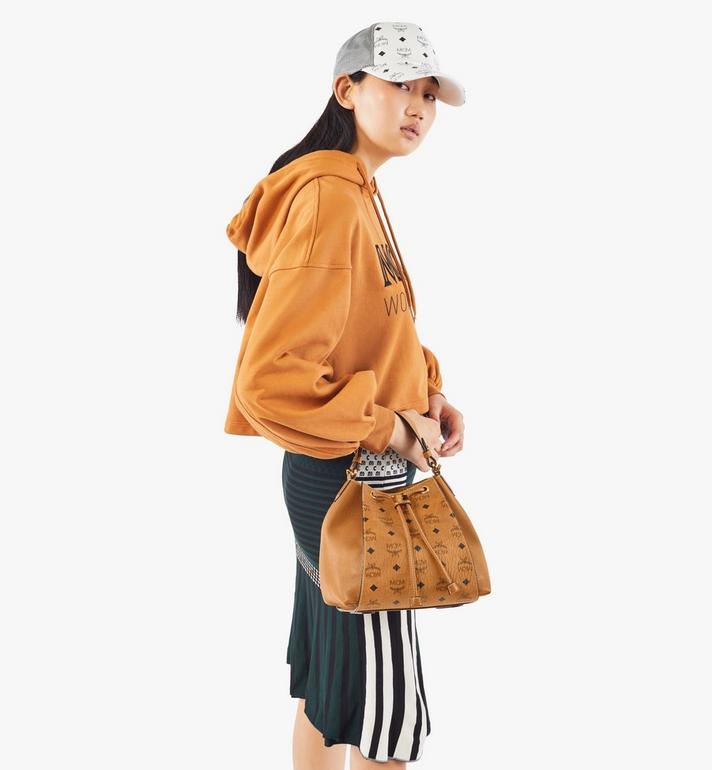 MCM Luisa Drawstring Bag in Visetos Leather Block Cognac MWDAALZ01CO001 Alternate View 7