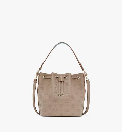 Tasche Essential aus Leder mit Monogramm und Kordelzug