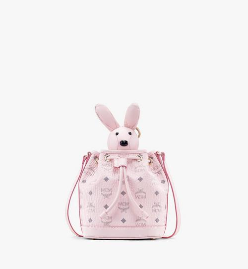 MCM Zoo Rabbit Drawstring Bag in Visetos