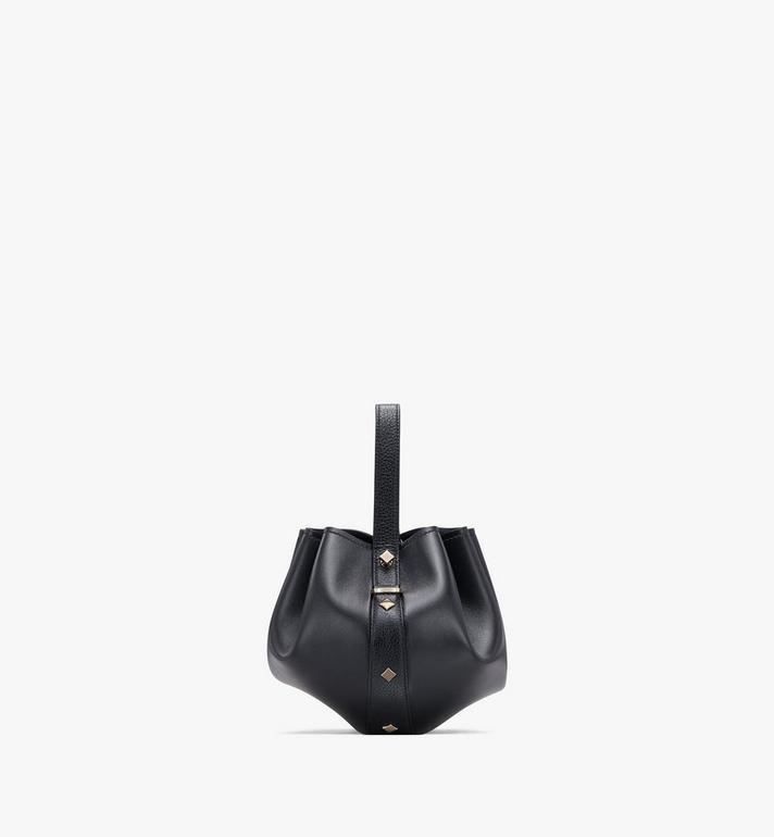 MCM Candy Drawstring Bag in Nappa Leather Black MWDASCY03BK001 Alternate View 2