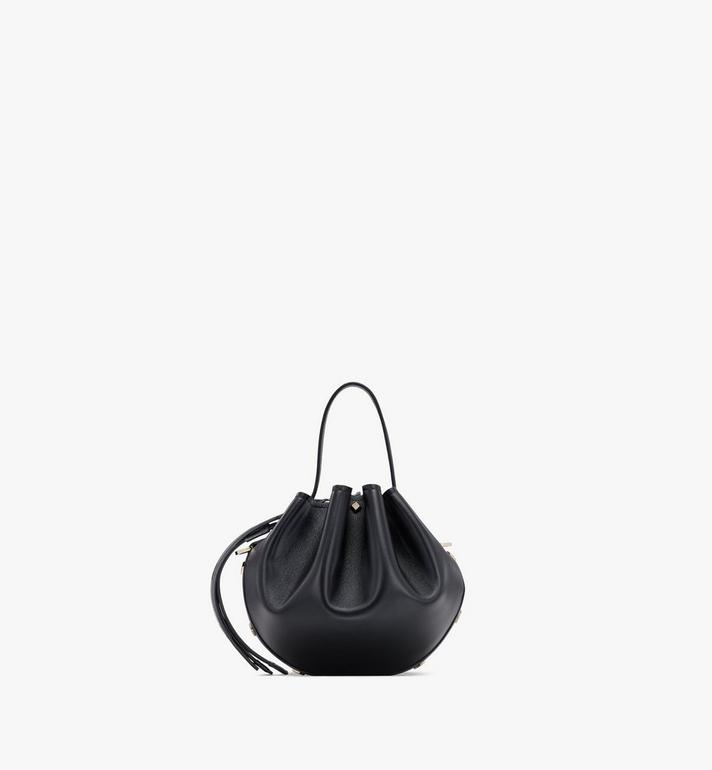 MCM Candy Drawstring Bag in Nappa Leather Black MWDASCY03BK001 Alternate View 3