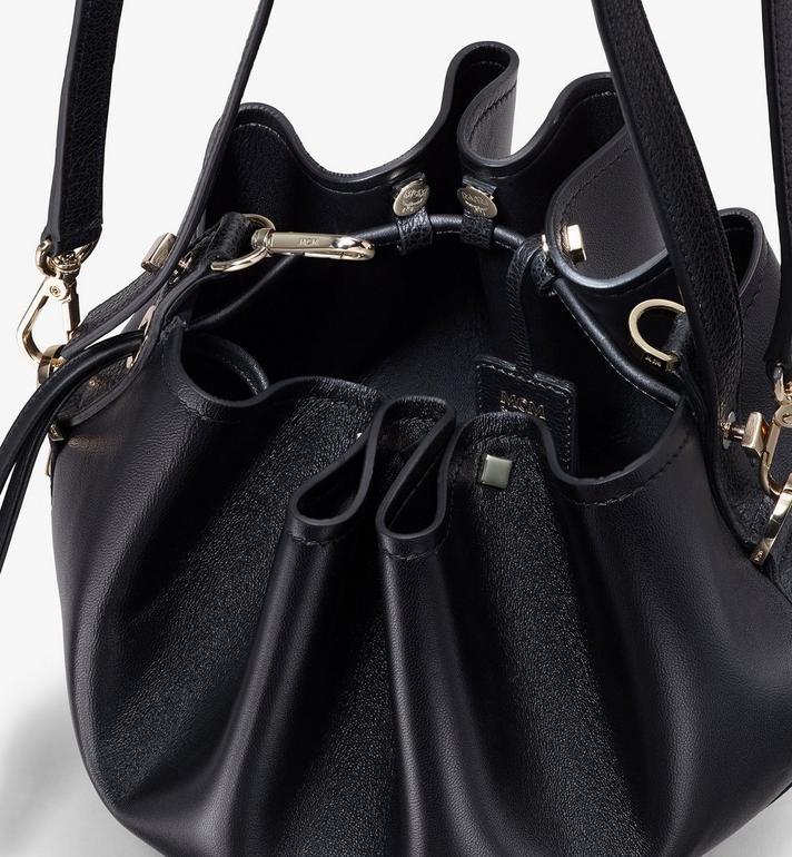 MCM Candy Drawstring Bag in Nappa Leather Black MWDASCY03BK001 Alternate View 4
