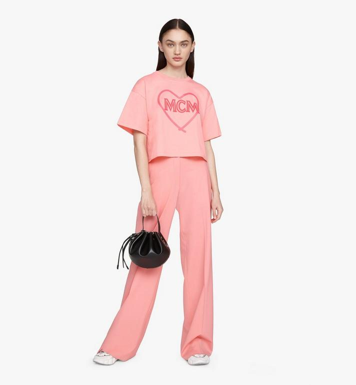 MCM Candy Drawstring Bag in Nappa Leather Black MWDASCY03BK001 Alternate View 5
