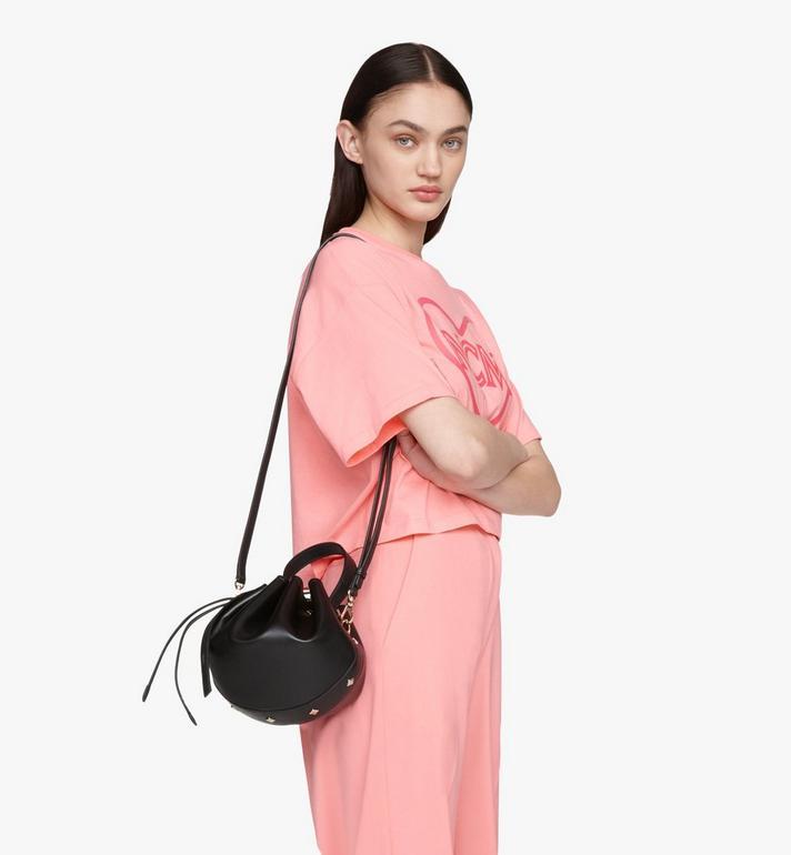 MCM Candy Drawstring Bag in Nappa Leather Black MWDASCY03BK001 Alternate View 6