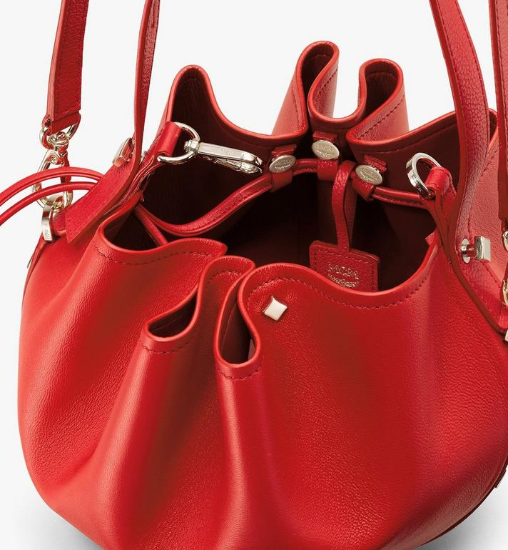 MCM Candy Drawstring Bag in Nappa Leather Red MWDASCY03R4001 Alternate View 4