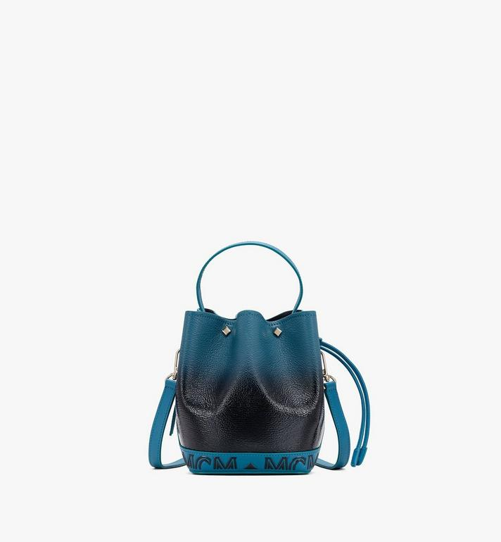 MCM Milano Drawstring Bag in Patent Leather Gradient Black MWDASDA01BK001 Alternate View 1
