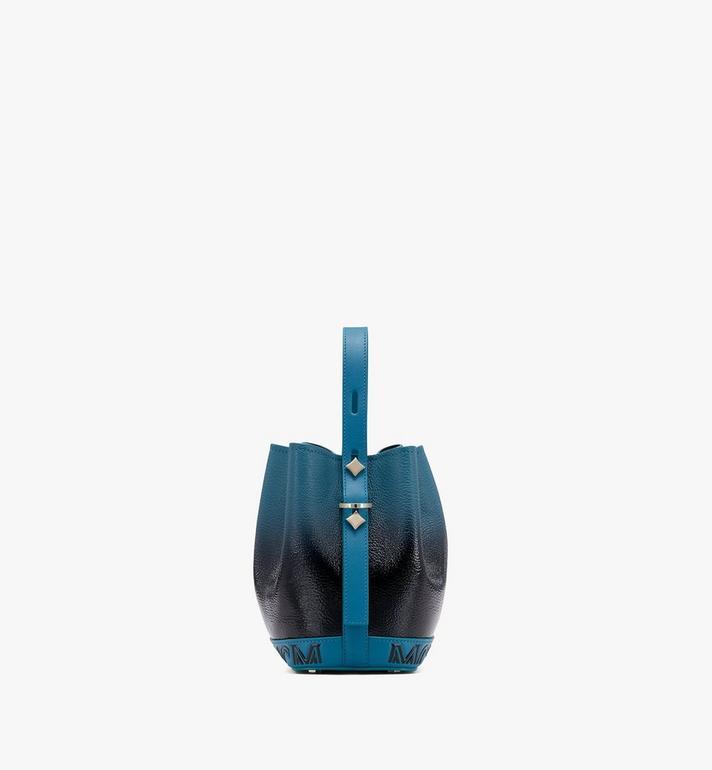 MCM Milano Beutel aus Lackleder mit Farbverlauf und Kordelzug Black MWDASDA01BK001 Alternate View 2