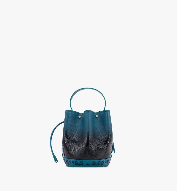MCM Milano Drawstring Bag in Patent Leather Gradient Black MWDASDA01BK001 Alternate View 3