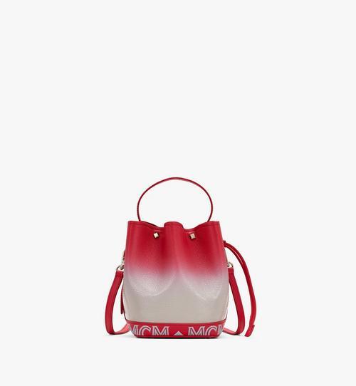 กระเป๋าหูรูด Milano ทำจากหนังแบบเงาไล่สี