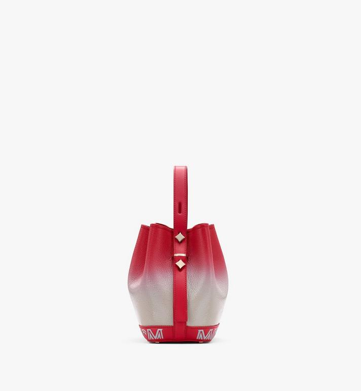 MCM Milano Drawstring Bag in Patent Leather Gradient Red MWDASDA01FJ001 Alternate View 2