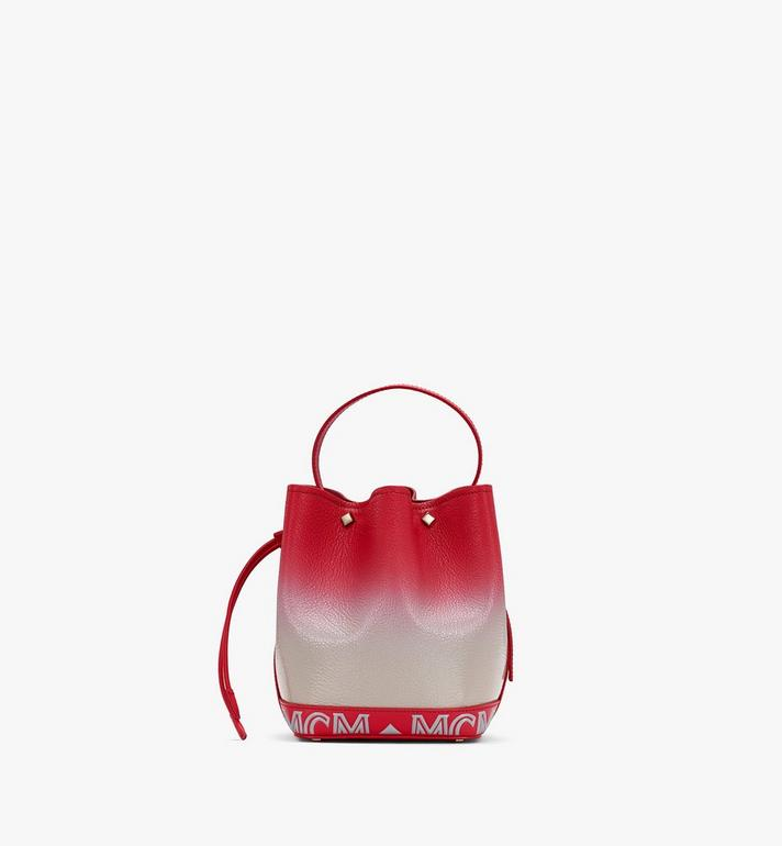 MCM Milano Drawstring Bag in Patent Leather Gradient Red MWDASDA01FJ001 Alternate View 3