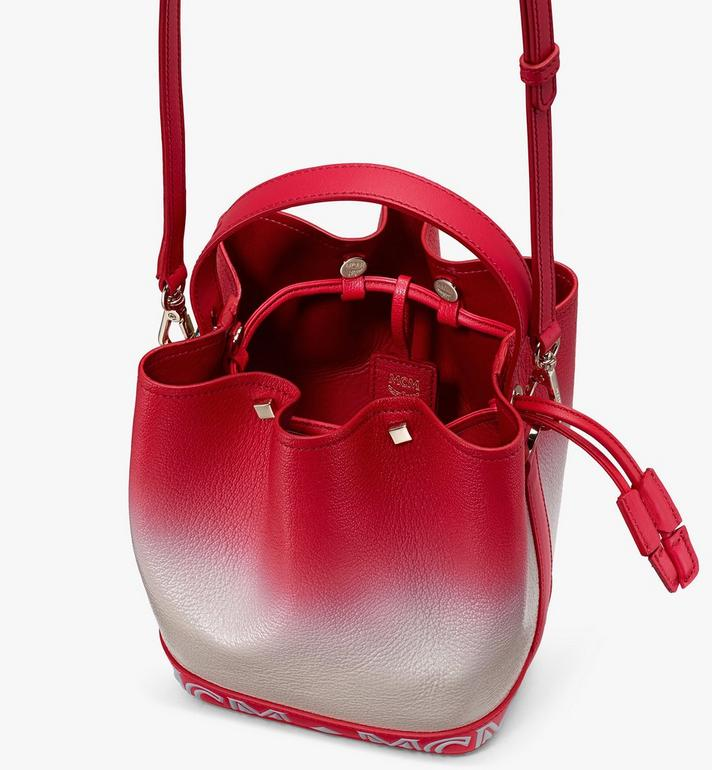 MCM Milano Drawstring Bag in Patent Leather Gradient Red MWDASDA01FJ001 Alternate View 4