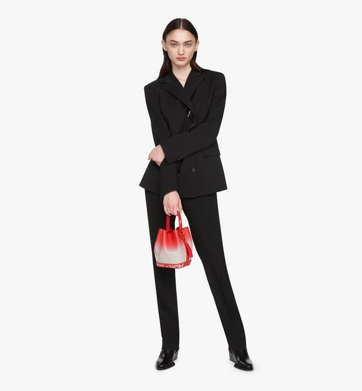 MCM Milano Drawstring Bag in Patent Leather Gradient Grey MWDASDA01FJ001 Alternate View 5