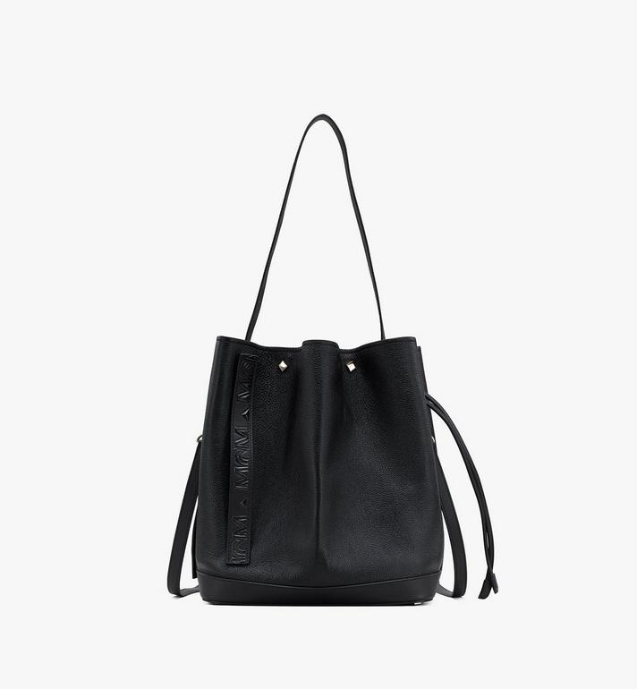 MCM Milano Drawstring Bag in Goatskin Leather Alternate View