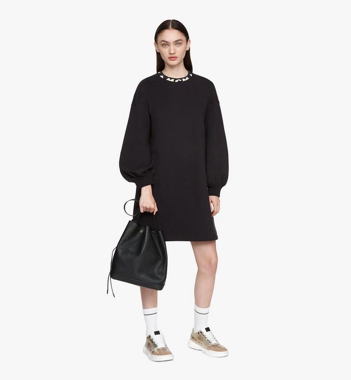 MCM Milano Drawstring Bag in Goatskin Leather Black MWDASDA02BK001 Alternate View 5