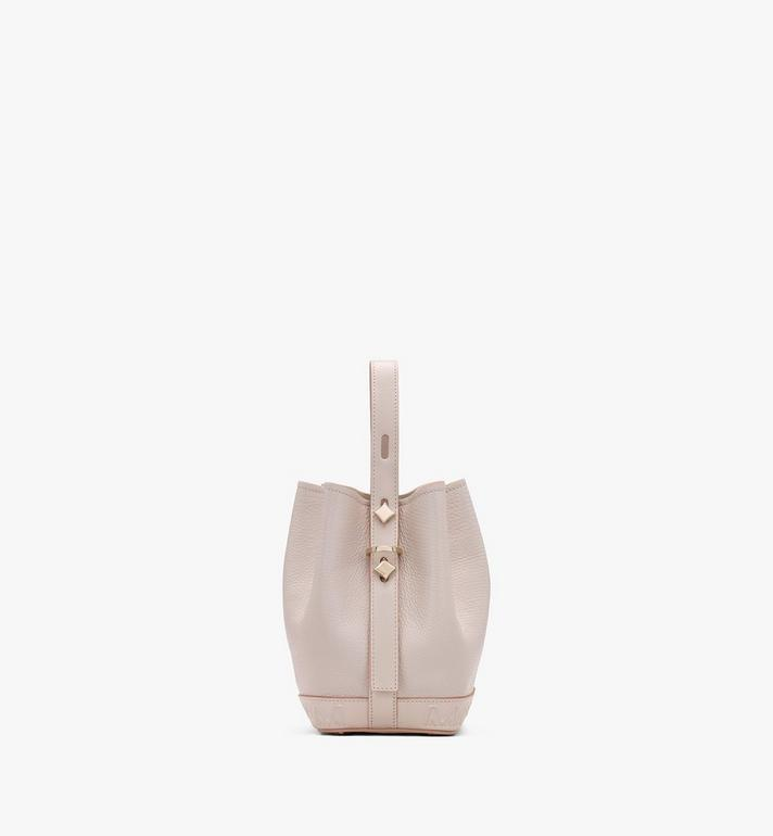MCM Milano Drawstring Bag in Goatskin Leather Beige MWDASDA03IH001 Alternate View 2